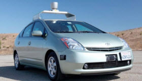 Google self-driving Prius. Photo courtesy of Google.